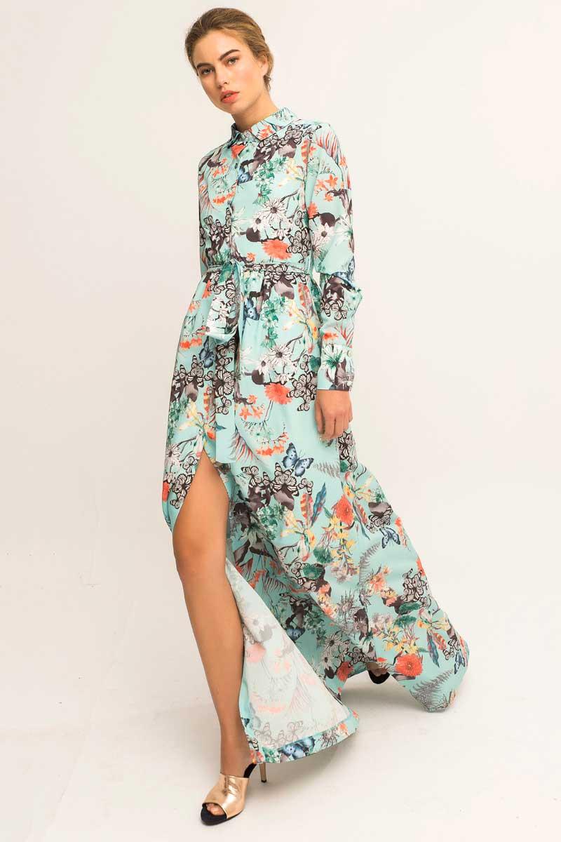 vestido camisero estampado juno