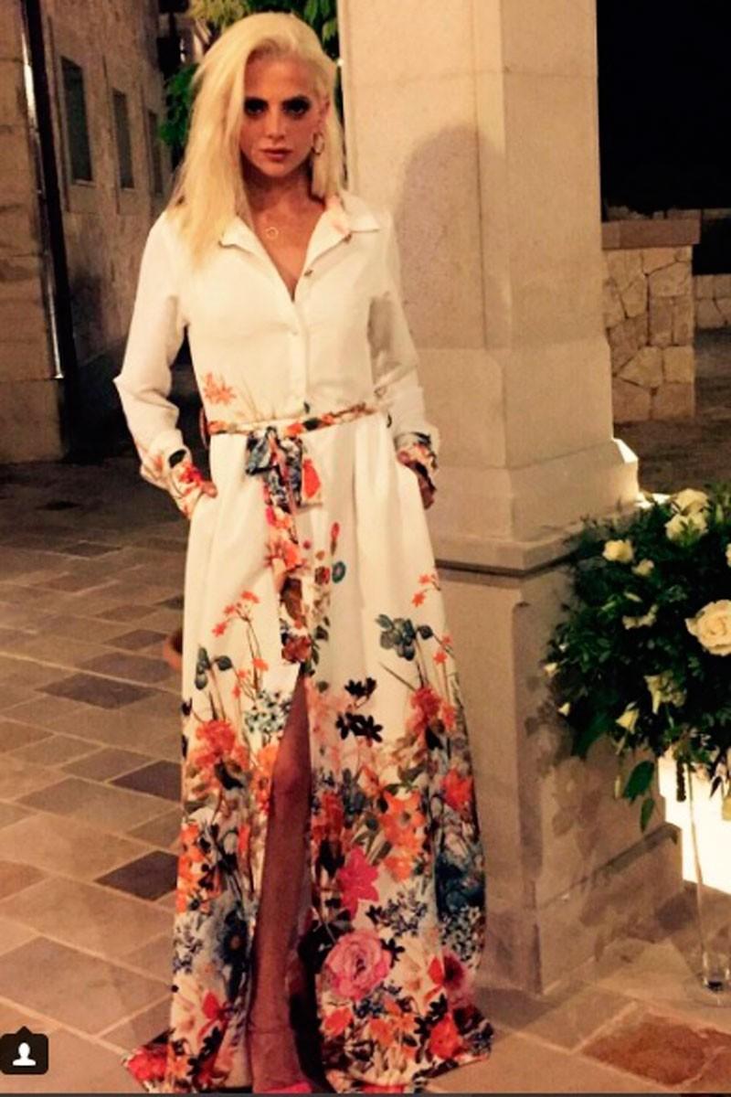 macarena gomez vestido camisero estampado de flores de manga larga de apparentia