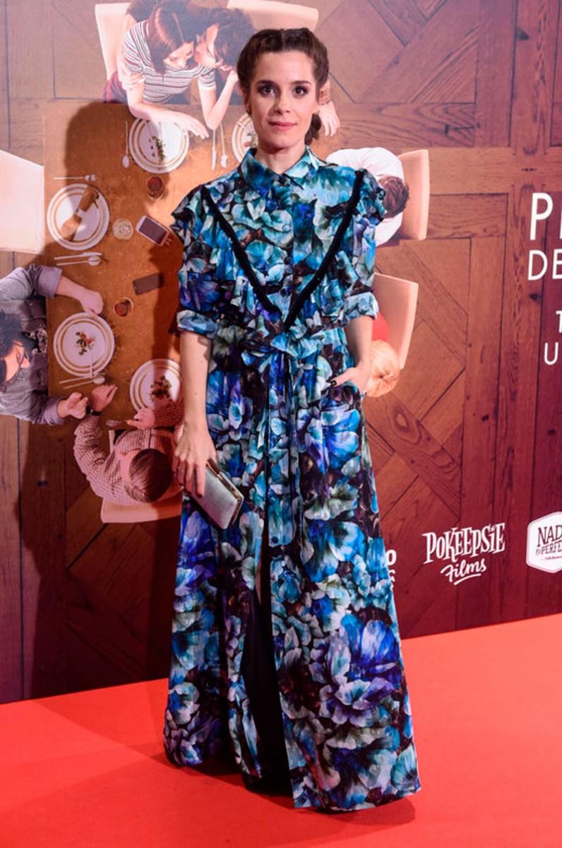 vestido largo camisero estampado de flores de apparentia nuria gago