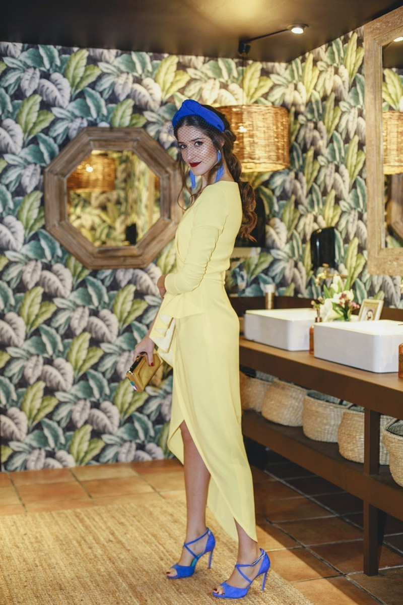 vestido midi amarillo invitada perfecta apparentia