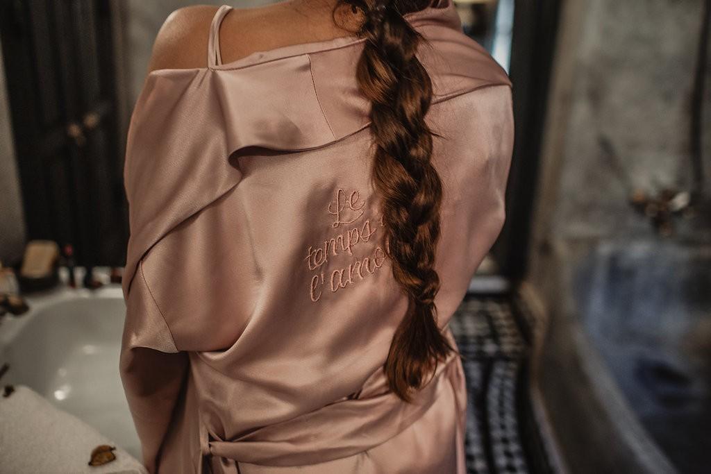 bata corta rosa personalizada lenceria apparentia