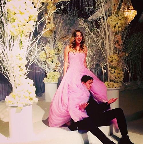 Boda vestido novia rosa