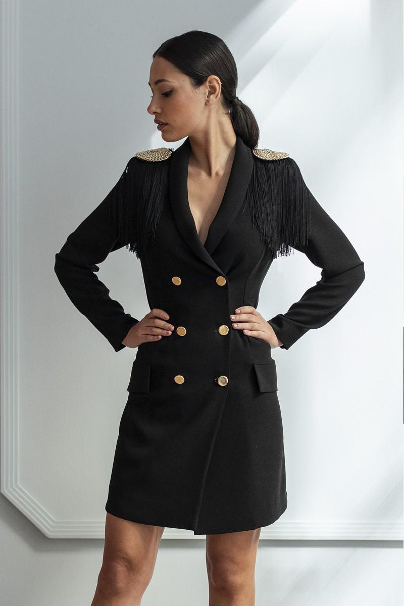 vestido corto esmoquin omega apparentia fiesta
