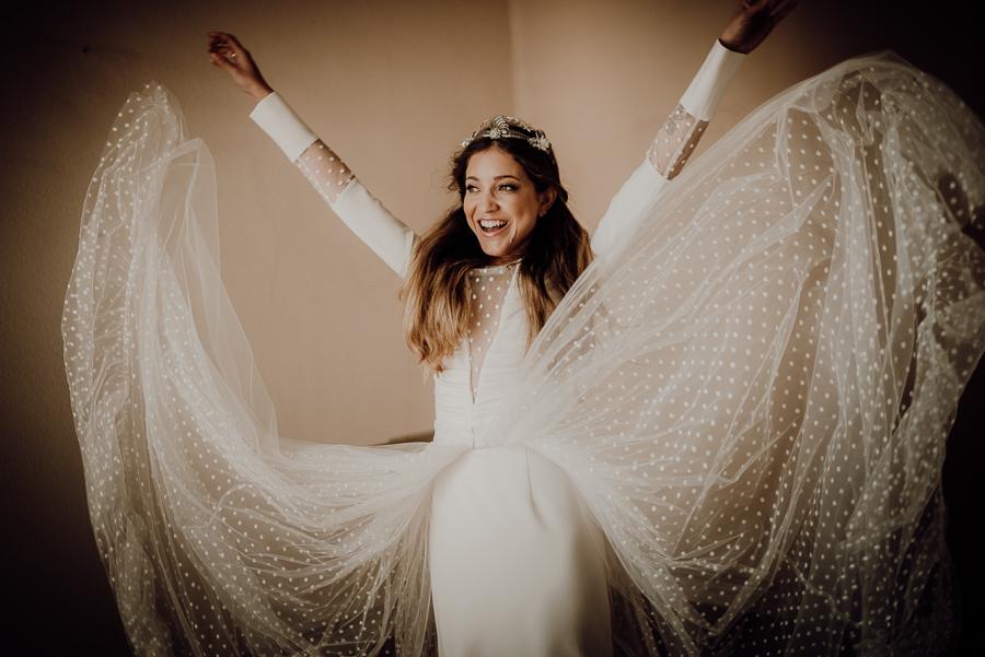 mi boda rocks vestido con plumeti y sobrefalda de apparentia