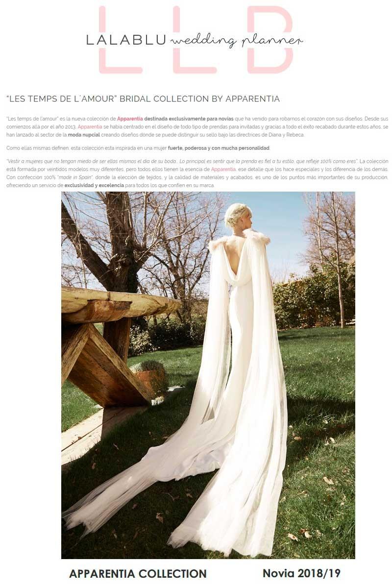 lalablu wedding planner vestidos apparentia