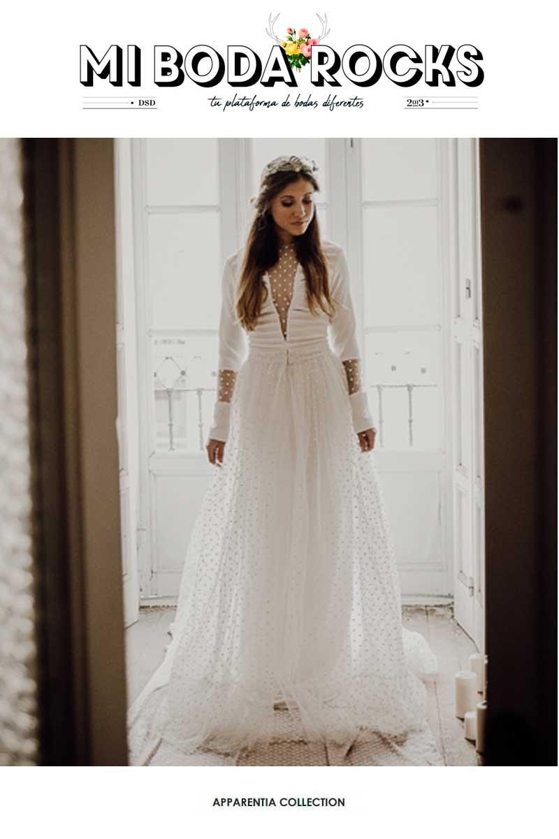 mi boda rocks vestido plumeti con sobrefalda de apparentia novias