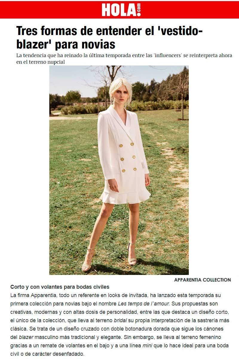 vestido corto novia civil apparentia revista hola