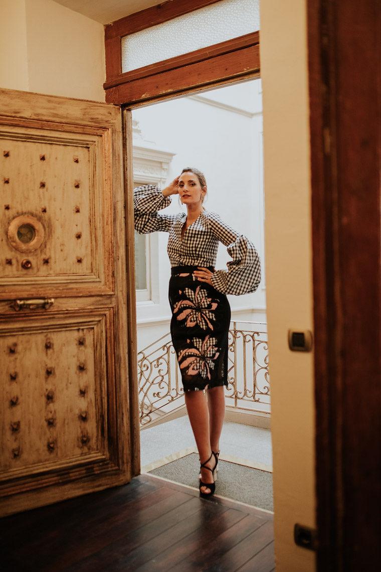 blusa cuadros vichy falda red miss cavallier apparentia