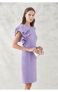 Como combinar un vestido lila largo
