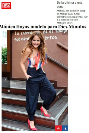 monica hoyos top jade revista diez minutos rayas apparentia