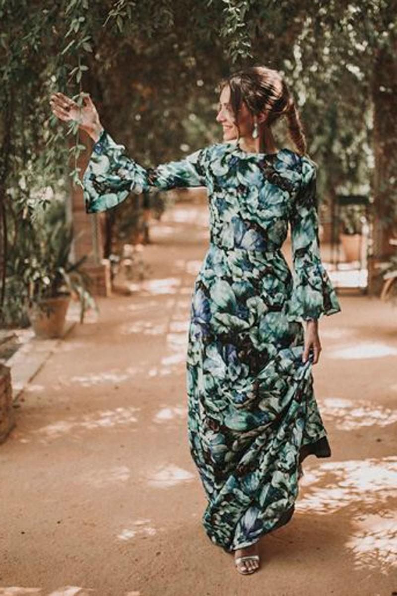 Vestidos largos flores famosas