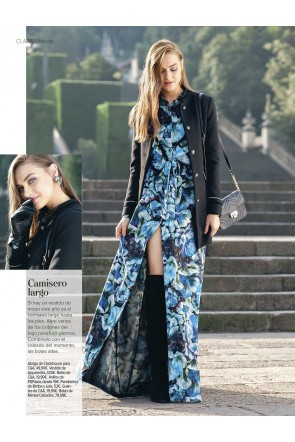 prensa-moda-revista-clara-vestido-flores-estampado-largo-camisero-scarlett-apparentia-collection