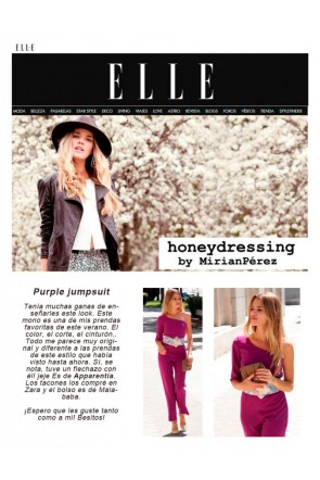 En la revista Elle con Honeydressing