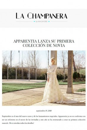 la champanera coleccion de novias bridal wedding apparentia