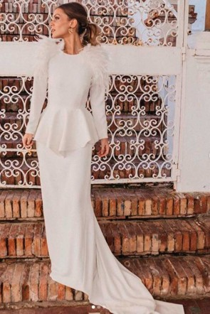 la blogger bridalada con vestido de novia de bridal apparentia collection