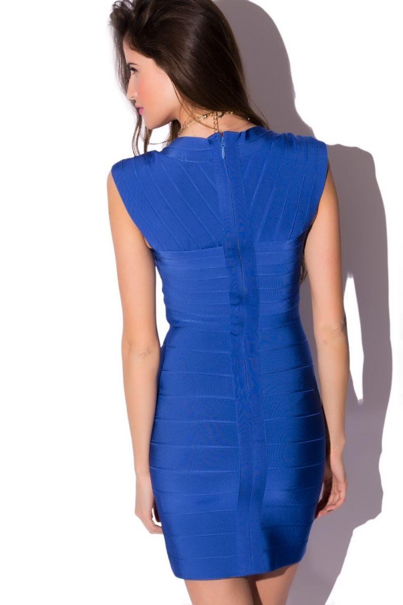 cd392d96f Vestido Ajustado Bandage Azul Klein