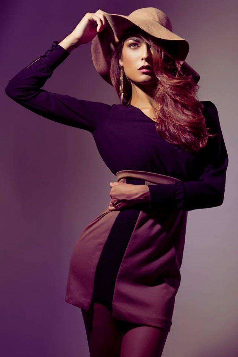 Vestido Alexandra de punto bicolor de daluna