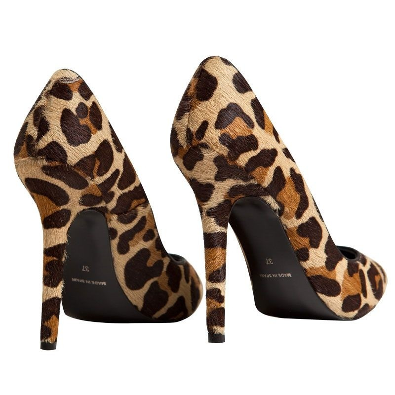 stilettos potro leopardo tacon