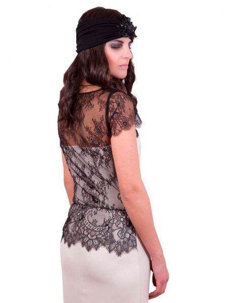 Vestidos de fiesta de encaje chantilly