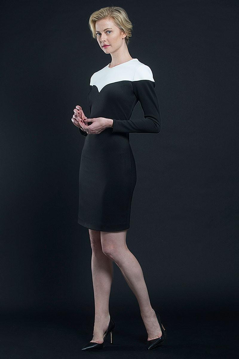 Vestidos cortos negro con blanco