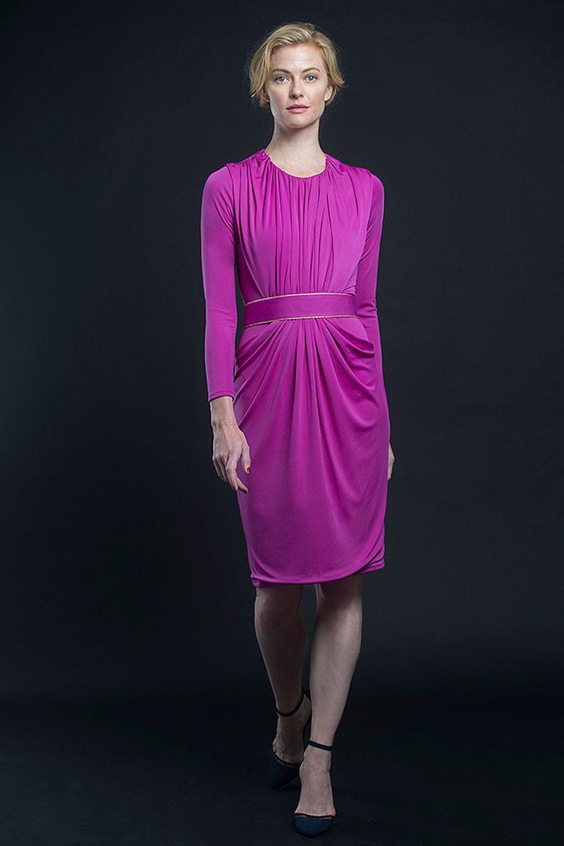 vestido rosa fucsia corto fiesta evento