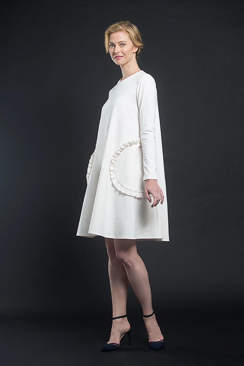 Vestidos de fiesta punto blanco