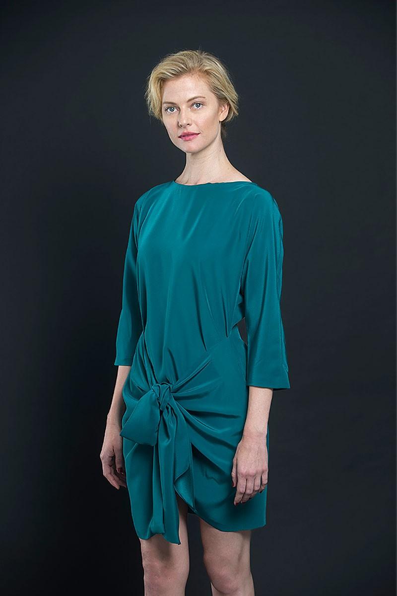 vestido corto verde fiesta
