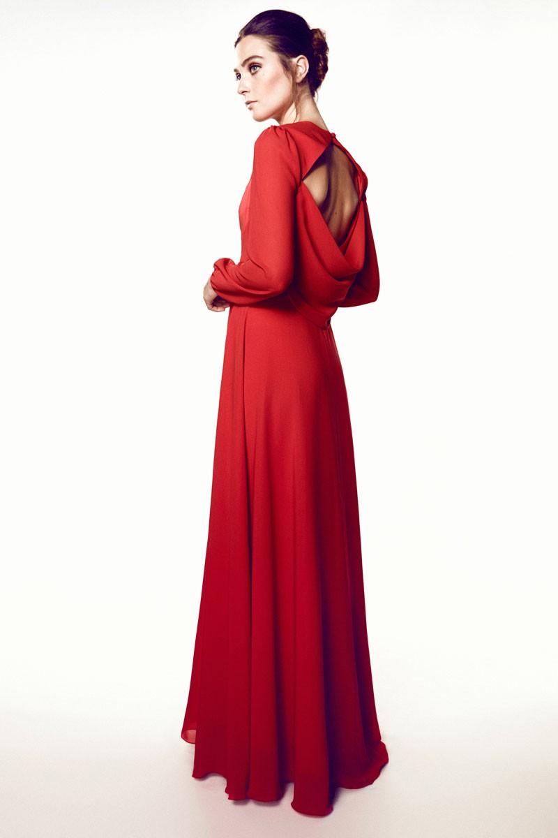 49aec5505305 Vestido Largo Rojo Lola