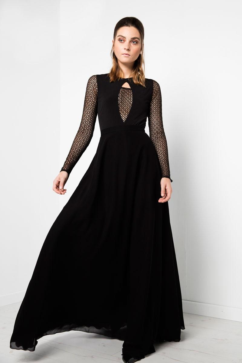 9ac6c2235 faldas largas negras fiesta