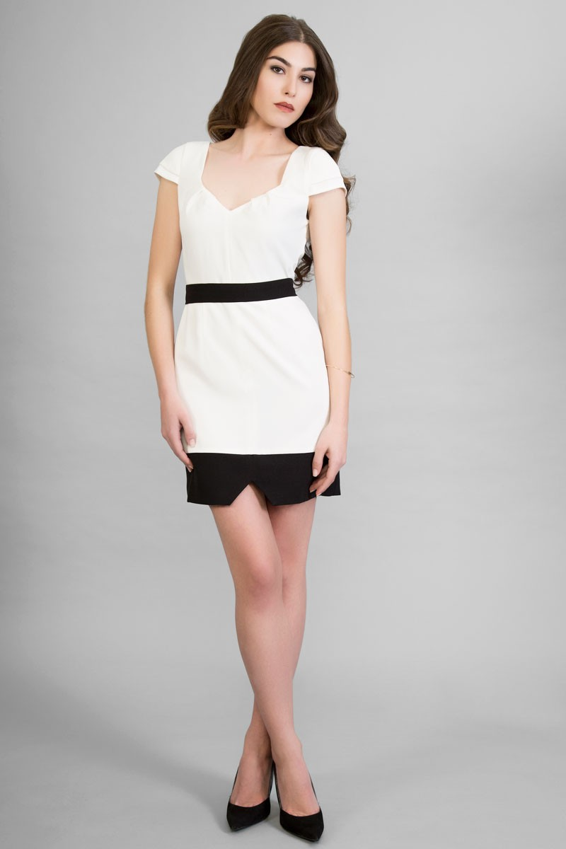 Vestidos de fiesta color blanco y negro