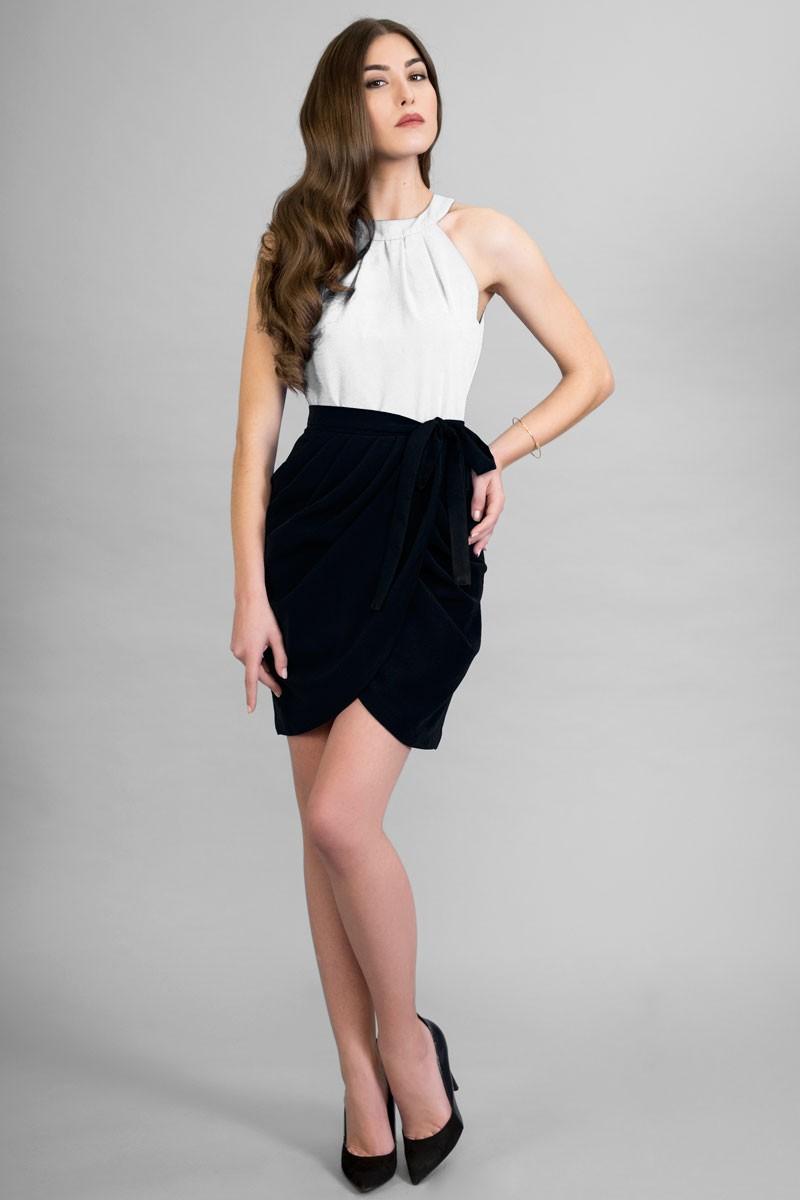 6d0938243 Vestidos de fiesta cortos en blanco y negro – Vestidos de boda