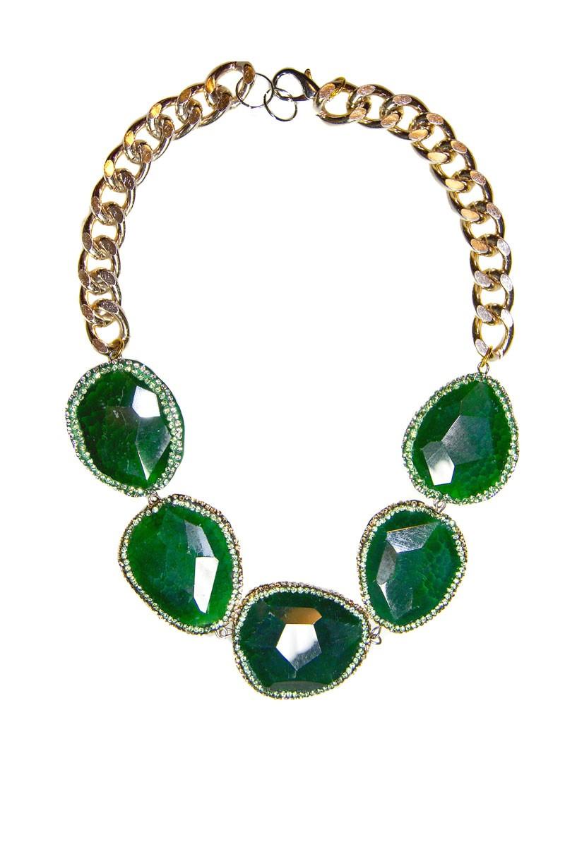 21239c43e1ce Collar Cristales Swarovski Piedras Semipreciosas Verdes