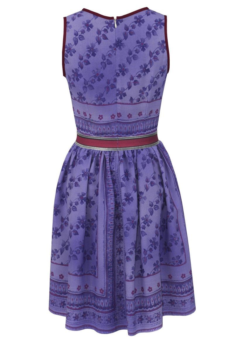 Vestido corto vuelo lila con flores de jose matteos