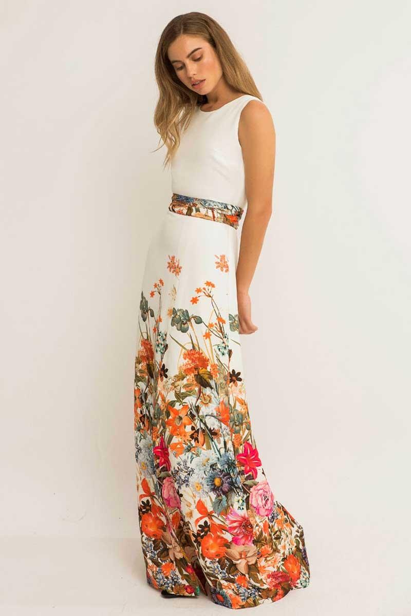 Resultado de imagen para vestidos largo con flores