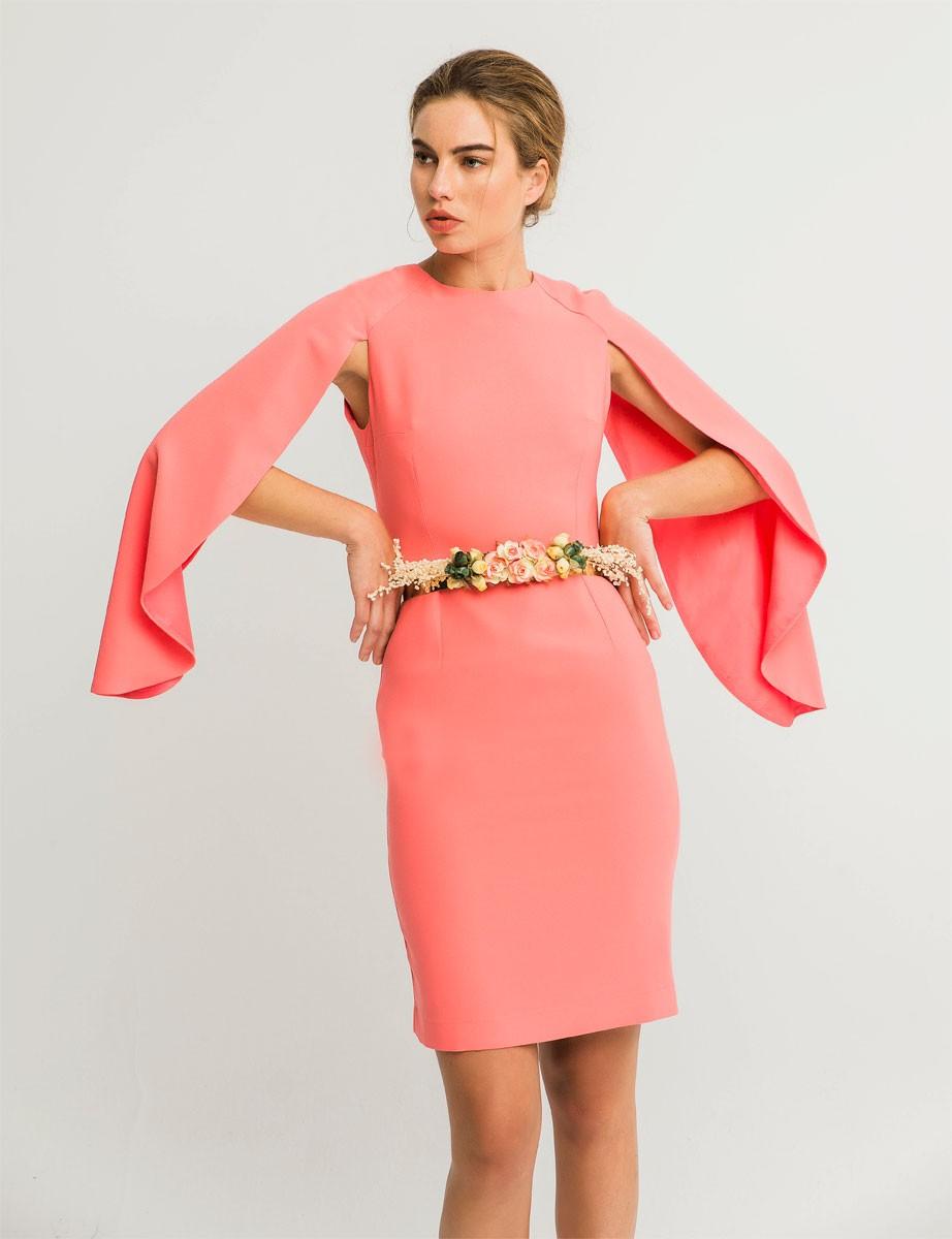 Vestidos para graduacion cortos color coral