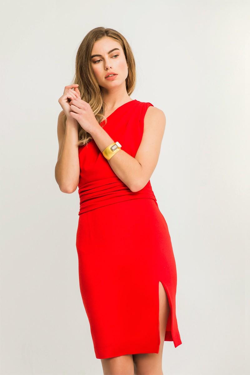 f325e4e81 vestidos de fiesta rojo corto asimetrico con abertura para invitadas de  boda comunion bautizo coctel apparentia