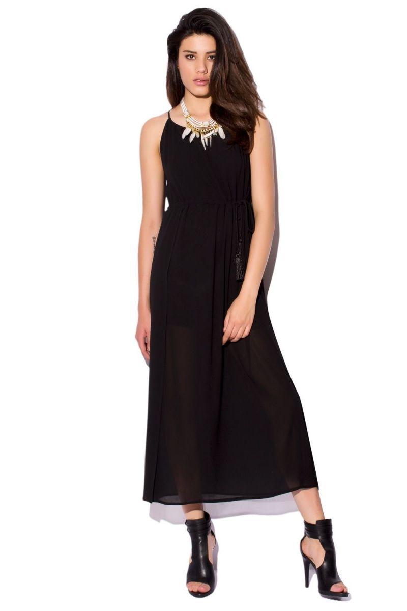 Vestido negro largo holgado