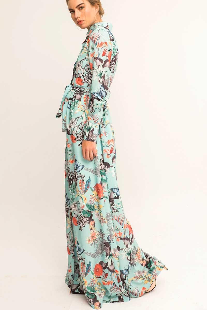 Vestido largo flores boda