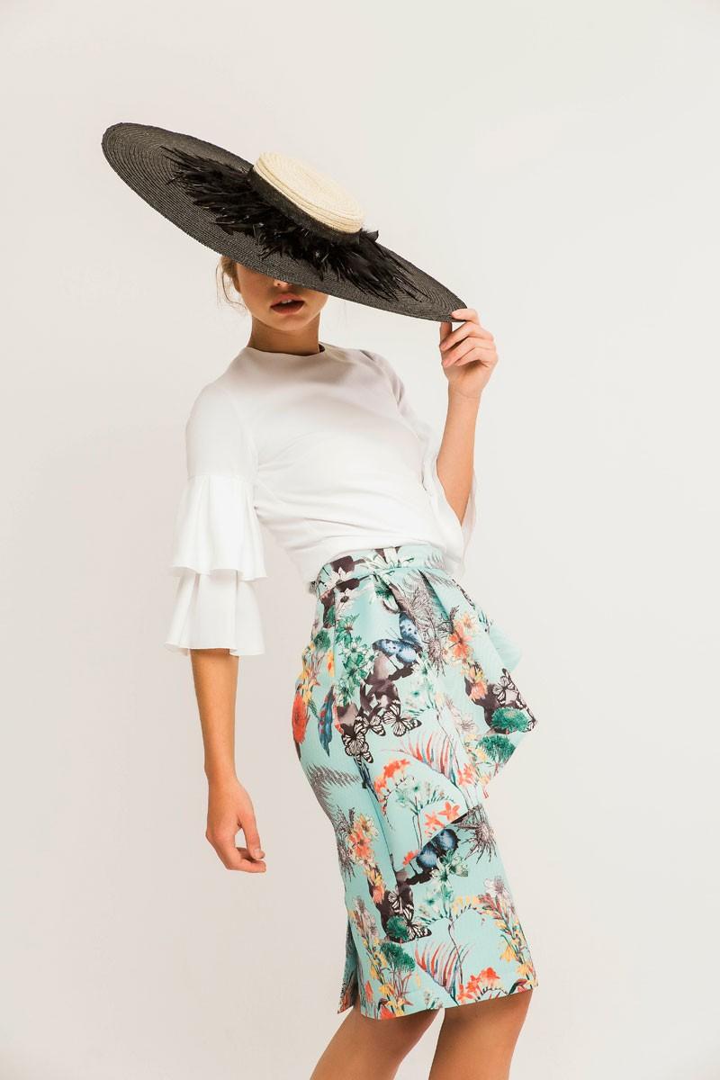 2403d7674a5fa blusa para invitadas de boda blanca con volantes en mangas de fiesta  bautizo comunion graduacion shopping