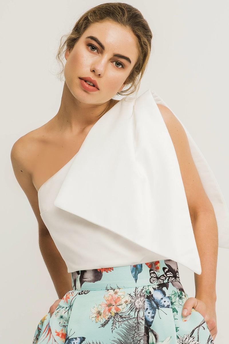 7a9dae8d07 Maxi falda larga estampada de mariposas y flores para invitada de boda  madrina evento elegante fiesta