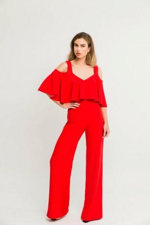 f3858620216d6 mono largo rojo con capa de vuelo de fiesta para invitada bautizo boda  shopping apparentia