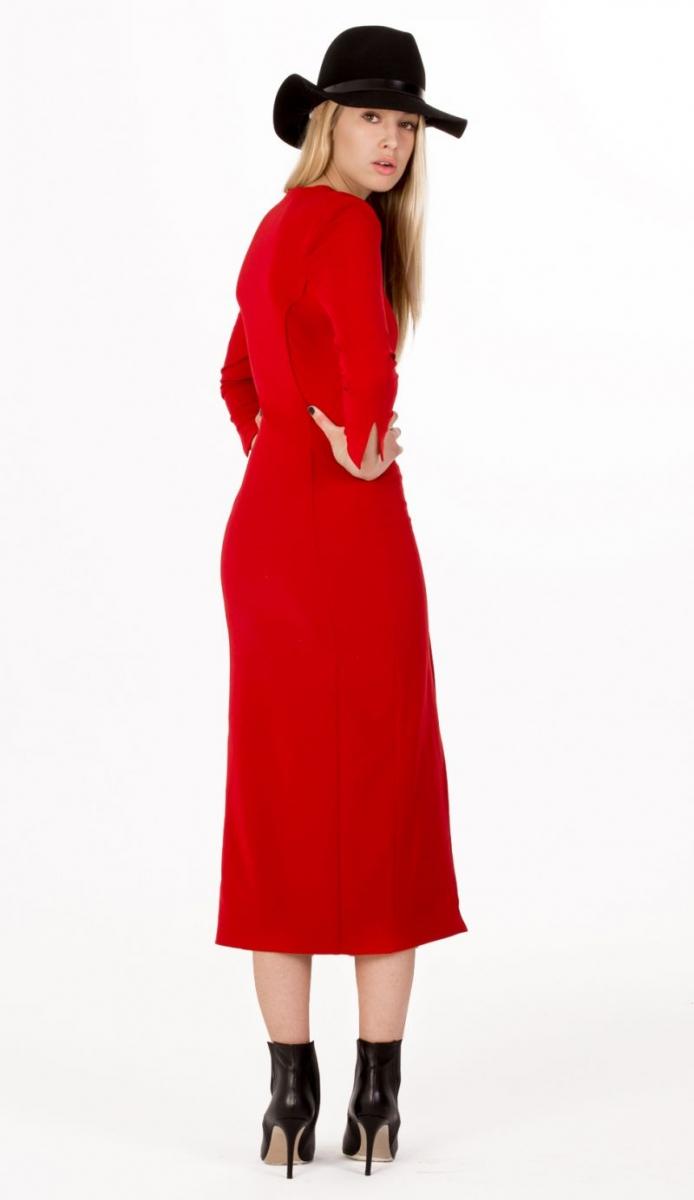 Vestido rojo largo midi