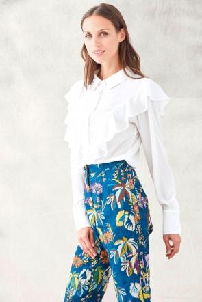 7277368b5c blusa blanca manga larga para eventos fiestas invitadas bodas shopping