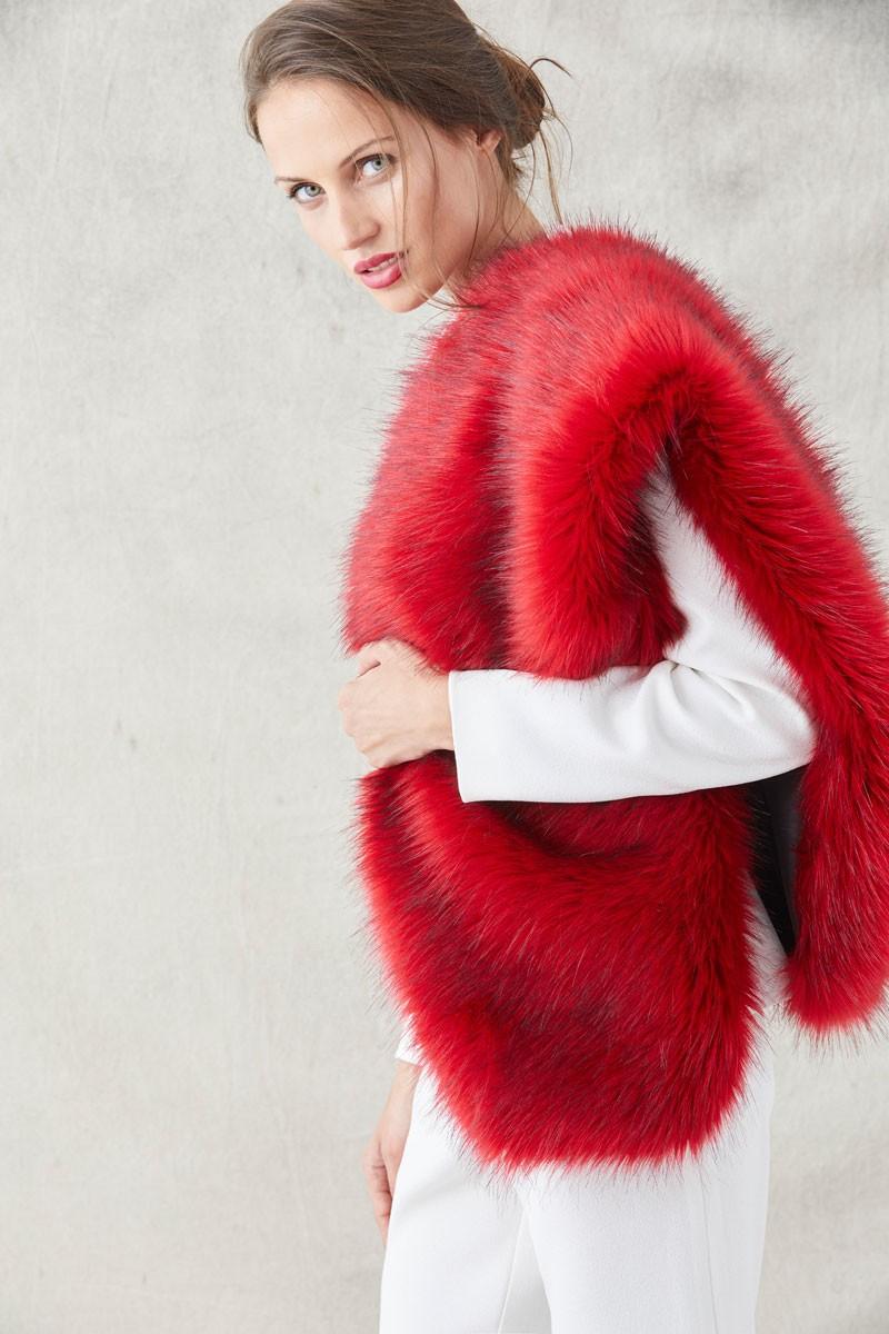 amplia selección comprar online calidad de marca Estola De Pelo Azul Marianne