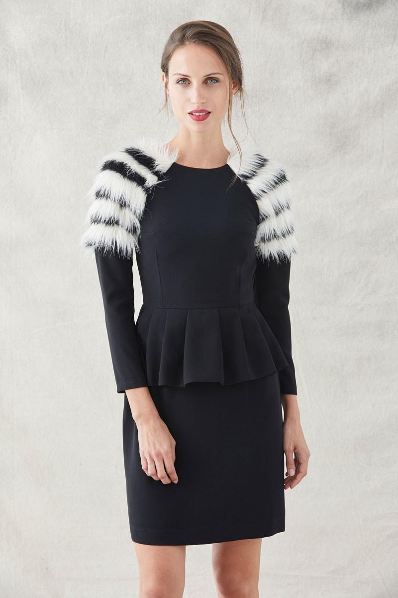 tecnicas modernas atesorar como una mercancía rara gama muy codiciada de Vestido Corto Blanco Y Negro Adelaide