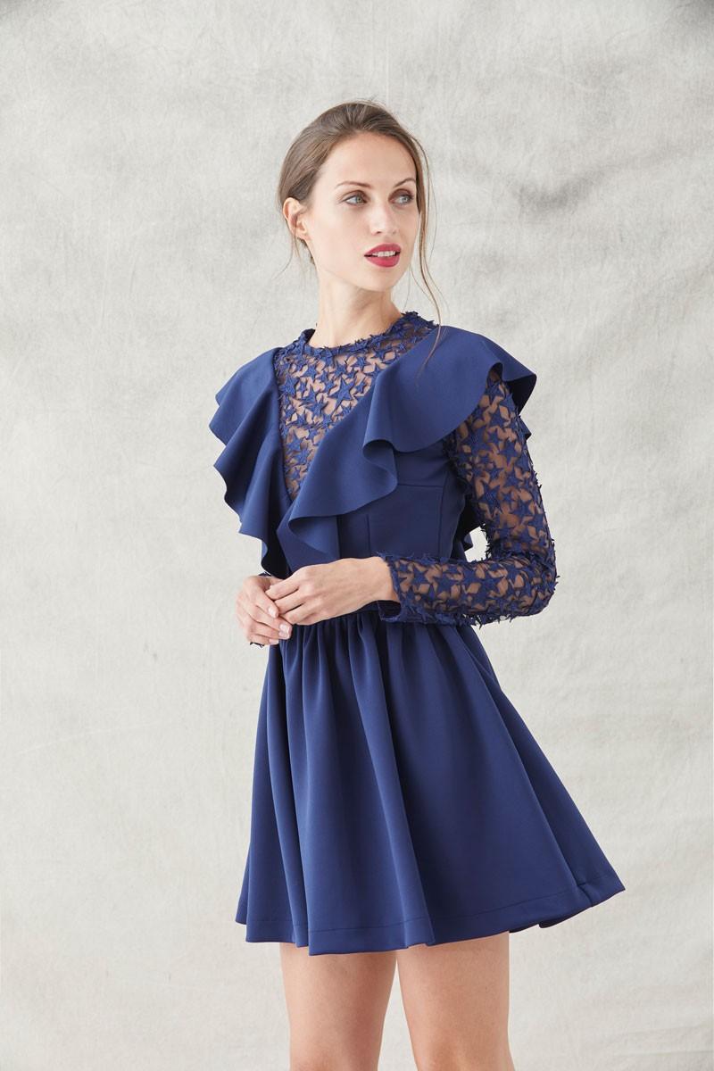 Vestidos de fiesta cortos azul marino