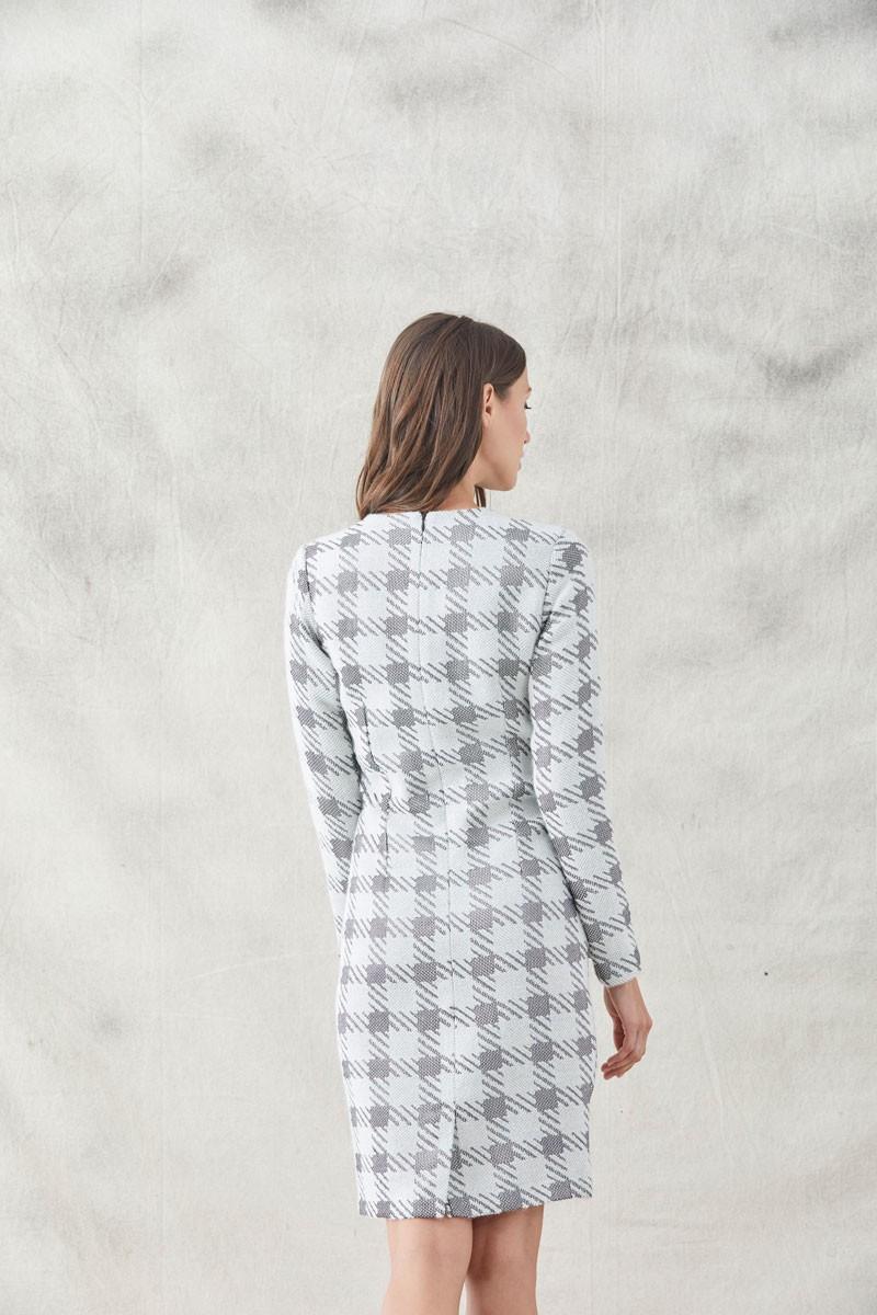 6d8694336 vestidos pata de gallo cortos con ollados terciopelo negro manga larga  invitadas fiestas eventos shopping