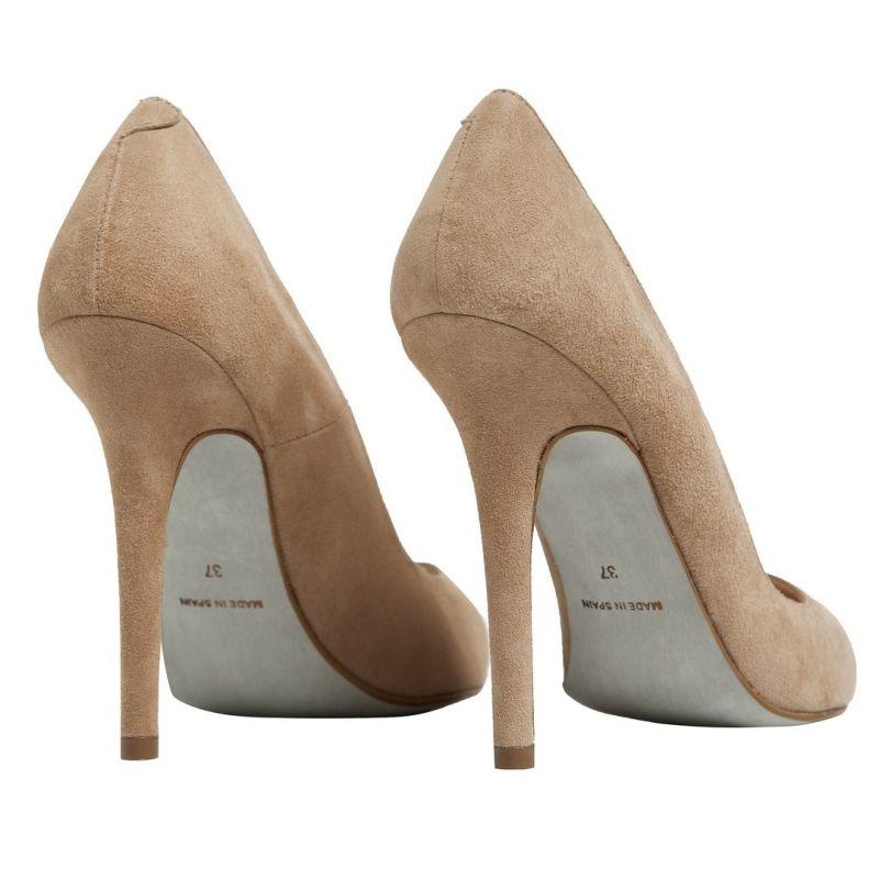 ecf94c5d85 zapato de salon en ante beige nude stiletto