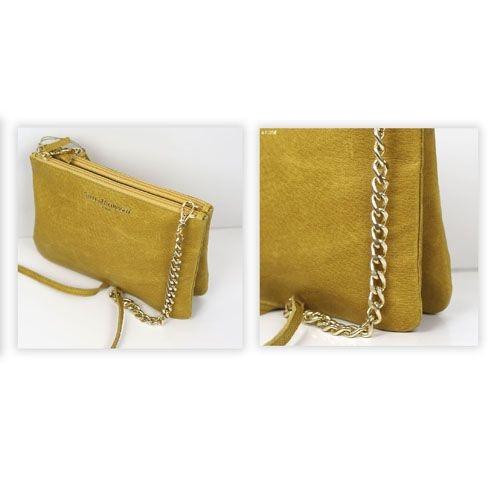 8038a82e7 de Bolsos amarillo color clutch de piel mano mostaza cartera en BxqwFdB8