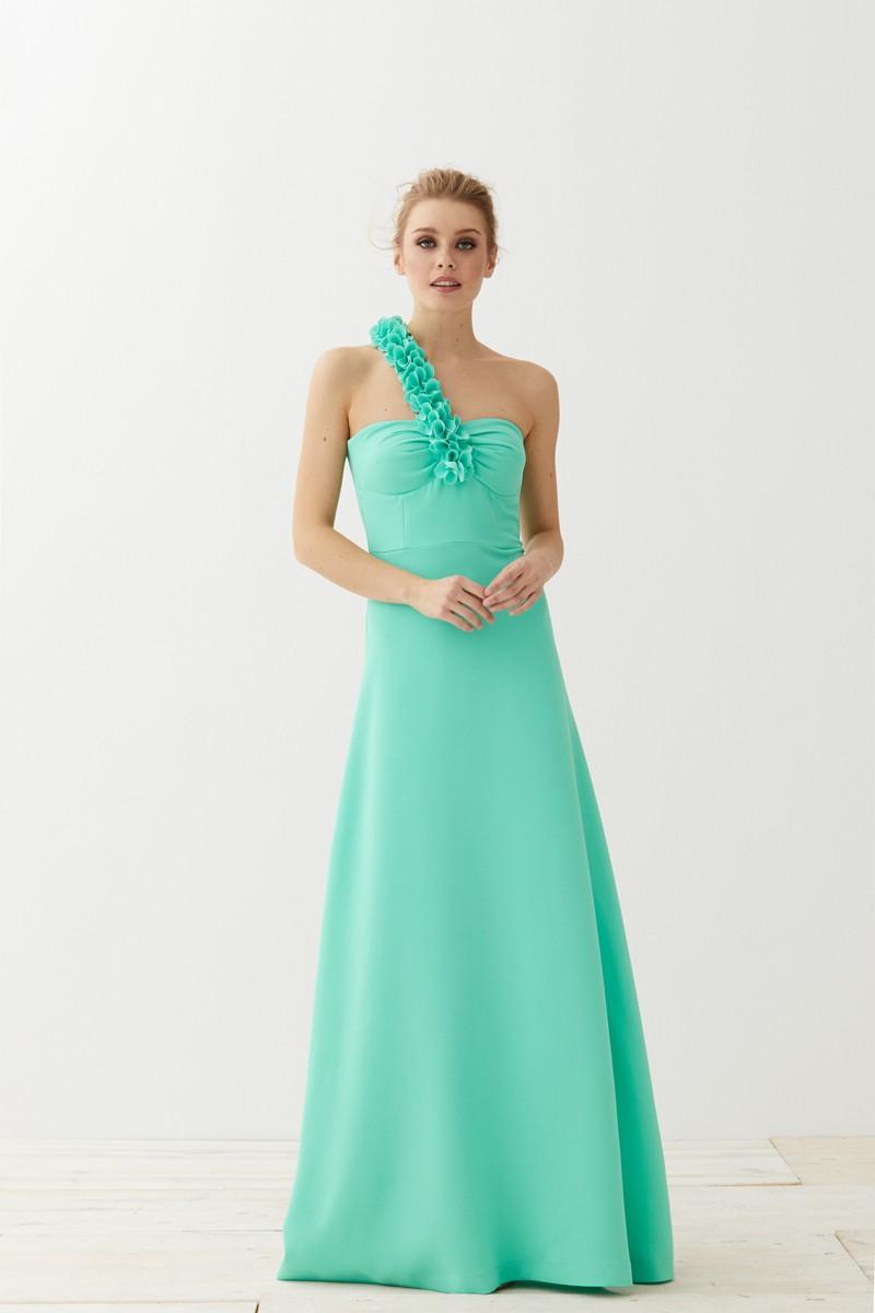 Vestidos largos en verde agua